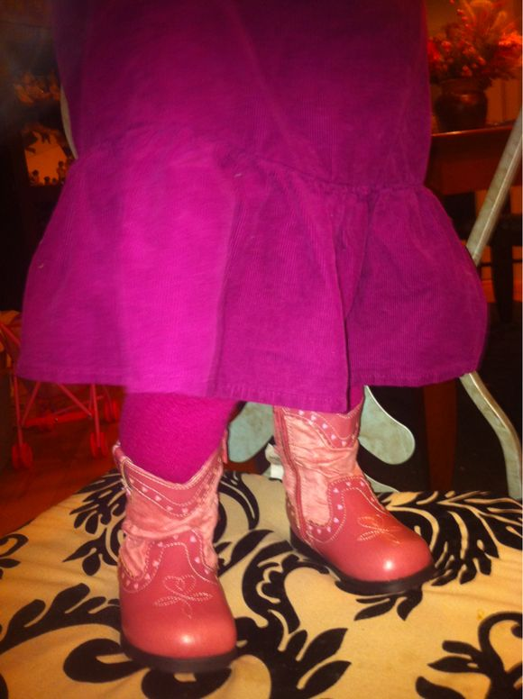 Day 9 - little pink cowboy boots